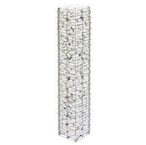 bellissa colonne en pierre BASIC – 95539 – colonne-gabion décorative pour l'extérieur – 20 x 20 x 118 cm