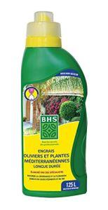 BHS EOPM500 Oliviers Et Plantes Med | 500 ML | Soit 125 L | Engrais Riche en Potasse pour Assurer Une Floraison Optimale, Fabriqué en France