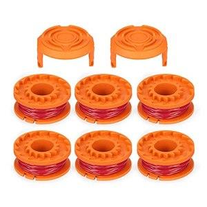 Binghai Lot de 6 bobines de fil pour débroussailleuse Worx GT