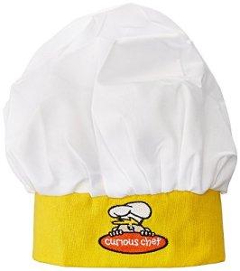 Bonnet de chef Curious en coton, multicolore, 20,3 x 12,2 x 17,8 cm