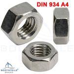 Boulons en U avec 2 plaques et 2 écrous DIN934 M4 x 30 mm – (2 pièces) – En acier inoxydable A4 – Boulons à étrier, étrier fileté I Bootsteile Brauer®