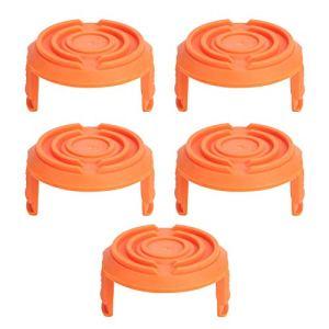 Capuchon de Bobine, Remplacement de Couvercle de Capuchon de Bobine de Coupe-Herbe 5 pièces adapté aux tondeuses Worxs WA0010