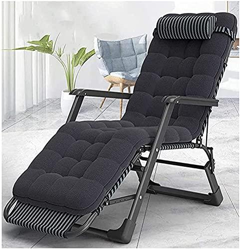 Chaise longue de jardin, Chaises longues inclinées chaises longues pliantes pont rembourrées pliantes pliantes chaise extérieure zéro gravité avec dos réglable et repose-jambes se détendre dans le con