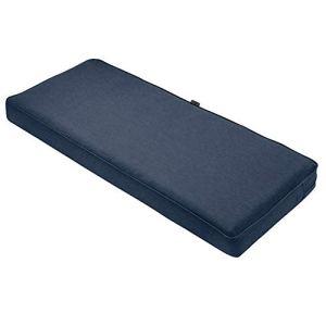 Classic Accessories Montlake Coussin imperméable pour banc/canapé d'extérieur Bleu indigo chiné 149 x 45 x 7,6 cm