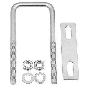 CNBTR Kit de boulons carrés en U M8 304 en acier inoxydable 45 x 120 mm (l x H)