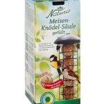 Dehner Natura Nourriture pour Oiseaux Sauvages, Colonne de Boules de Graisse avec 4 Boules, Rechargeable, métal, Noir