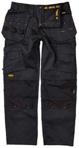 DeWalt Pro Pantalon de Travail Robuste en Toile pour Homme, 34W x 29L, Noir, 1