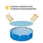 Doherty Bâche de protection solaire pour bulles de piscine – Film isolant rond 3 m pour chauffage de l'eau de la piscine et réduction de l'évaporation – Découpe gratuite, facile à installer