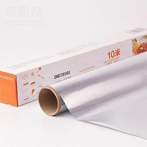DUKAILIN Lot de 4 rouleaux de papier aluminium pour barbecue 1000 cm x 30 cm