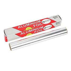 DUKAILIN Lot de 4 rouleaux de papier aluminium pour barbecue 5 m/10 m x 30 cm