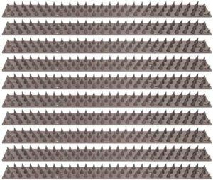 ELRO ACS77-10 Anti Grimpant Piques pour Murs et Clôtures – Gris – Paquet de 10