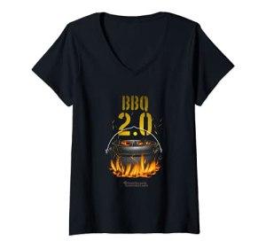Femme Dutch Oven BBQ 2.0 Dutch Oven T-Shirt avec Col en V