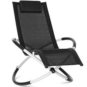GARTIO Relax Lounger Chaise Longue, Bain de Soleil, Chaise Berçante, Chaise Pliable, Ergonomique, avec Une Charge Maximale de 180 kg, Facile à Installer pour Les Jardins et Terrasses