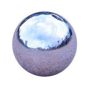 GDglobal Boules en acier inoxydable pour décoration de jardin 150 mm Argenté