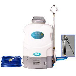GEXIN DIOE Pulvérisateur à Batterie Rechargeable Li-ION – avec Sangles, 20 litres, Blanc