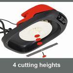 Grizzly Tools Tondeuse à paillage à coussin d'air – Tondeuse à coussin d'air électrique légère avec une puissance de 1600 W – Lame en acier pour une coupe de paillage fine.