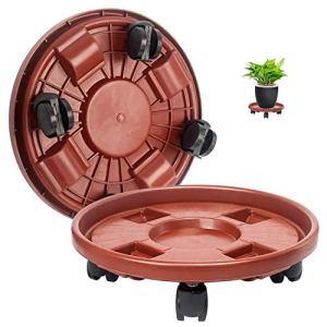 Guangyu Support de Plante Chariot avec 4 Roulette,30cm pour Transport Déplacer Pot de Fleurs Lourdes Facilement