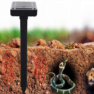 Harddo Solar Power Répulsif à ultrasons à Piles étanche pour rongeurs avec Souris Serpent Lot de 2 Vert
