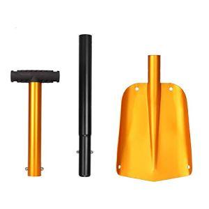 Hieefi Pelle à Neige réglable en Alliage d'aluminium de Neige Spade Set Portable Voiture Neige Spade pour Camping en Plein air ou Jardin