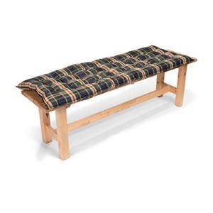 Homeoutfit24 Sylt Bench – Coussin de Banc, Fabrique en Europe, Confort d'assise, Haute qualité, pour Meubles de Jardin, 140 x 47 x 7 cm – Vert/Jaune