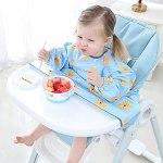 HOTPINK1 Bavoir à manches longues pour nouveau-né avec housse de table pour bébé, chaise de salle à manger,
