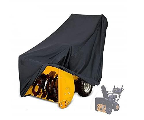 Housse de protection pour souffleuse à neige de jardin UCARE – Housse imperméable pour pelle à neige avec cordon de serrage – Noir (43 x 32 x 35/127 cm)