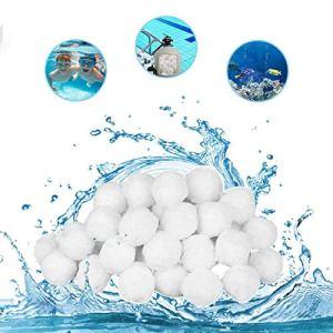 Huifengjie Boules de Filtre de Piscine, Balles Filtrantes,Billes filtrantes 700g Alternative pour 25 kg de Sable filtrant,Média Filtre à Fibres pour Piscine Filtres à Sable Filtrage de l'eau