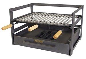 IMEX EL ZORRO 71482.0tiroir Barbecue avec Grille, Noir, 72x 41x 35cm