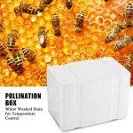 Jiangpan Boîte d'accouplement d'abeille en Mousse avec Grille de Maintien au Chaud étui d'élevage de Reine étanche 24.1x15x14.1cm Outils d'apiculture pour la pollinisation