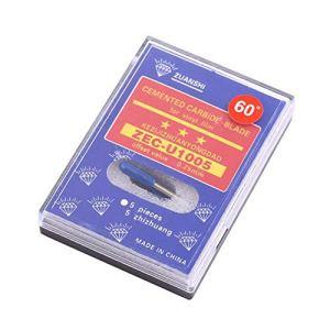 Lames de rechange pour lame de traceur en vinyle de haute dureté 30/45/60° pour coupe en plastique pour Cricut Explore Air 2 Vinly Cutter(60°)
