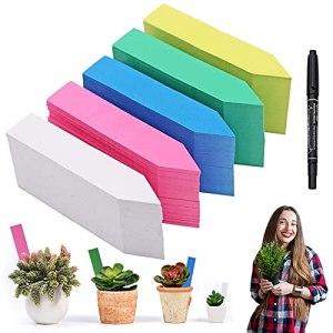 Lot de 500 étiquettes en plastique pour plantes, Étiquette de jardin Signes Plante Label Plantes balises durables de marqueurs de Jardin imperméables étiquettes de semis
