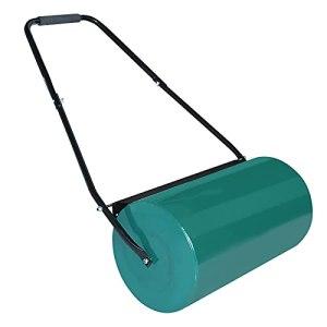 LZQ Rouleau à gazon manuel Avec réservoir 57 cm 46L Diamètre du rouleau 32 cm Pour le jardin Vert