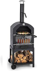 MaxxGarden Four à Pizza Extérieur – Au Charbon de Bois avec Pelle – Four de Jardin – 45 x 65 x 158cm