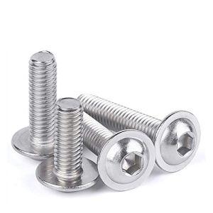 Meet's shop ISO7380.2 m2 m2.5 m3 m4 m5 m8 m8 304 Acier Inoxydable Prise hexagonale Bouton tête vis à tête de Collier (Length : 14mm, Taille : M8(2PCS))