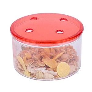 Mengmengda Oriole Mangeoire à oiseaux en plastique transparent pour suspendre Mangeoire à oiseaux en métal Bol détachable pour fruits Orange