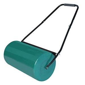 NAIZY rouleau de jardin à main, rouleau à gazon peut être rempli avec une largeur de rouleau de 57 cm, diamètre de 32 cm, volume de remplissage de 46 L, vert