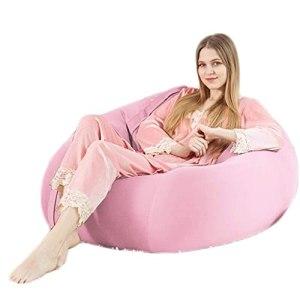 NC ZSCC Pouf Chaise Canapé, Spandex Tissu Lazy Sofa Sack Multifonction Remplissage Microparticules Lavables – Salon Dortoir, 75 75cm (Couleur : C)