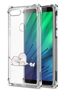 Oihxse Crystal Coque pour Xiaomi Redmi Note 8 Pro Transparent Silicone TPU Etui Air Cushion Coin avec Motif [Elephant Lapin] Housse Antichoc Protection Bumper Cover (A2)