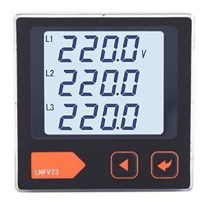 Okuyonic Voltmètre voltmètre Courant triphasé pour système de Distribution d'énergie pour Usine pour Bureau(LNFV73, Transl)
