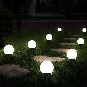 Otdair Solar Lights Outdoor, lot de 8 lampes de jardin à LED solaires alimentées par globe, étanche pour le paysage de passerelle de patio dans le sol, voie de piquets dans le sol, blanc froid
