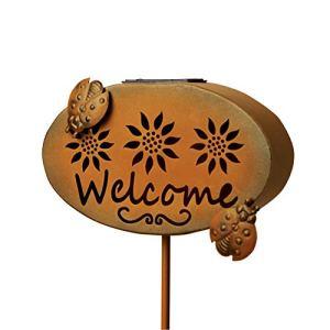 Panneau solaire de bienvenue»Welcome» avec lumière LED