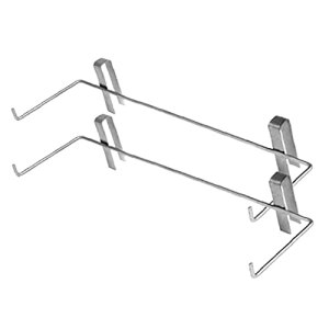 Porte-châssis Beehive Support Support Support Beekeeping Perch Stand de montage latéral Outil en acier inoxydable argent 2pcs apiculture