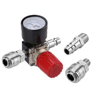 Preciva Régulateur de Pression d'Air Trois voie valve 175psi 12bar 1/4 Pouce Manomètre à Air Régulateur pour compresseur (Nouveau 3 voie valve)