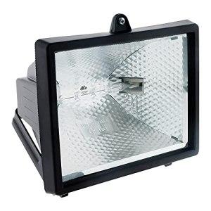 Projecteur halogène 400W Noir sans détecteur – IP54 CE
