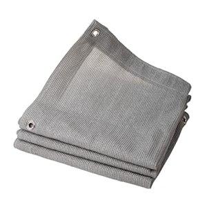 RDJSHOP Tissu Crème Solaire Ombrelle Net Deck & Fence Privacy Screen Pare-Brise en Métal Œillets, Dépistage De Qualité Commerciale Heavy Duty Couverture (Color : Gray, Taille : 2x5m)