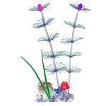 Ruluti Poisson Glowing Artificielle en Silicone Aquarium Les Plantes de Corail Ornement sous-Marine Ornement de Poissons Aquarium Accessoires D3 Décor