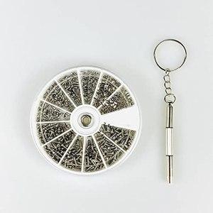 ShuYing 600 pcs minuscules vis Kits de réparation de Noix m1 m1.2 m1.4 pour Les Montres Lunettes téléphone Tornillos (Couleur : 600 PCS)
