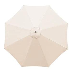 SMLJFO Housse de rechange pour parasol – 8 baleines – 3 m – Imperméable – Anti-ultraviolet – Tissu de rechange – Beige