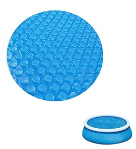 Solar Pool Cover,Round Spa Covers for Hot Tub,for 4 6 8 10 12ft Diameter for Keeps Out Leaves Debris Dirt Insects (8ft(240x240cm))