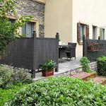 SONGMICS Palissade en PVC, 0,9 x 4 m, Canisse, Brise-Vue, Paravent, pour Balcon, terrasse, Jardin, extérieur, avec renforcement, Gris GPF094GV2